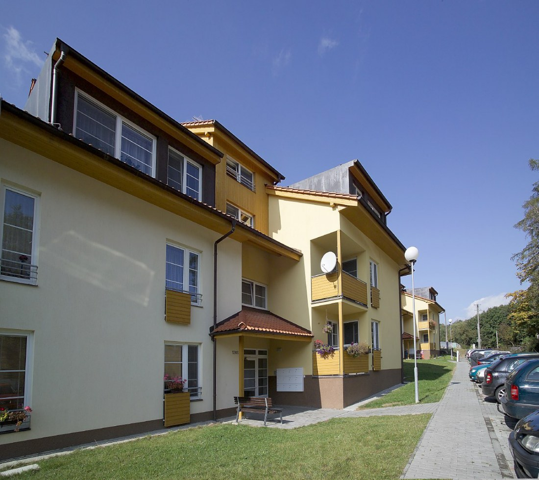 Apartment buildings on Tyršova Street in Vizovice for the Town of Vizovice