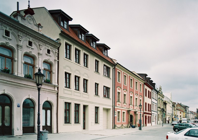 Reconstruction of the retirement home on Riegrove Square in Kromeriz
