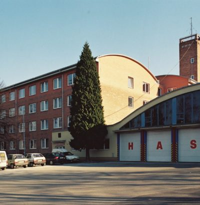 Extention and overstorey of the building of the KR  Firebrigade-rescue in Zlín